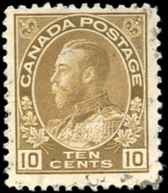 Canada #118, Admiral Issue, F+, Used