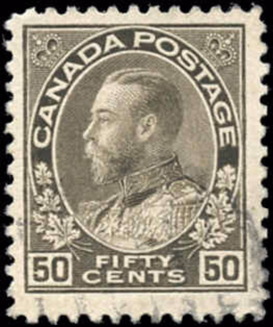 Canada #120, Admiral Issue, F-VF, Used