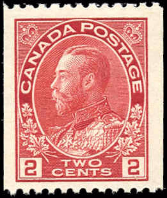 Canada #132, Admiral Issue, F-VF, MH