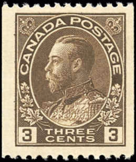 Canada #134, Admiral Issue, F-VF, MH
