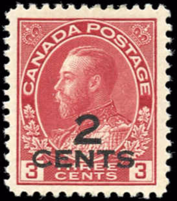 Canada #140, Admiral Issue, F-VF, MH