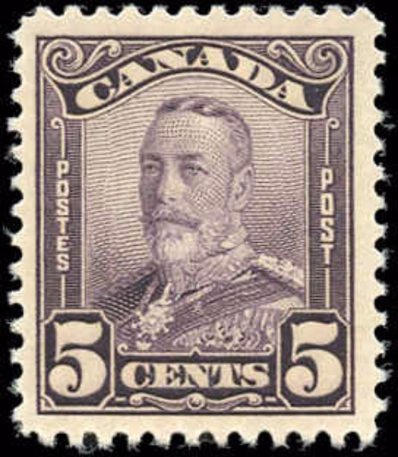 Canada #153, Scroll Issue, F-VF, MH