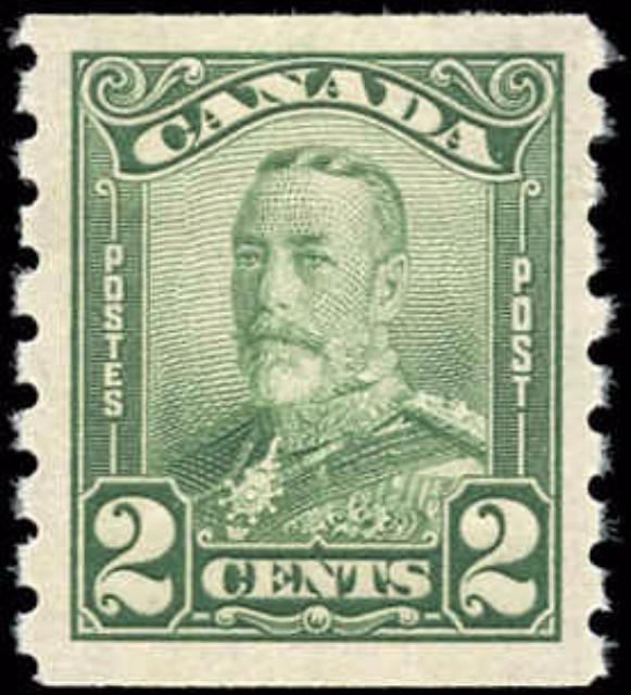 Canada #161, Coil Scroll Issue, F-VF, MH