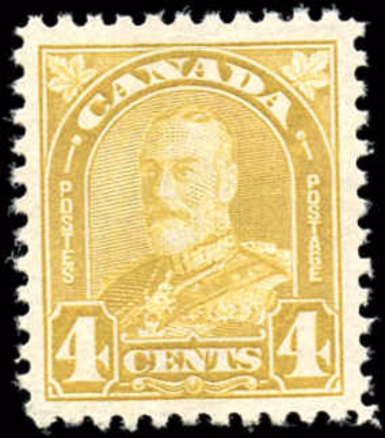 Canada #168, Arch/Leaf Issue, F-VF, MNH