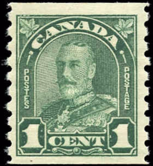 Canada #179, Coil Arch/Leaf Issue, F-VF, MH