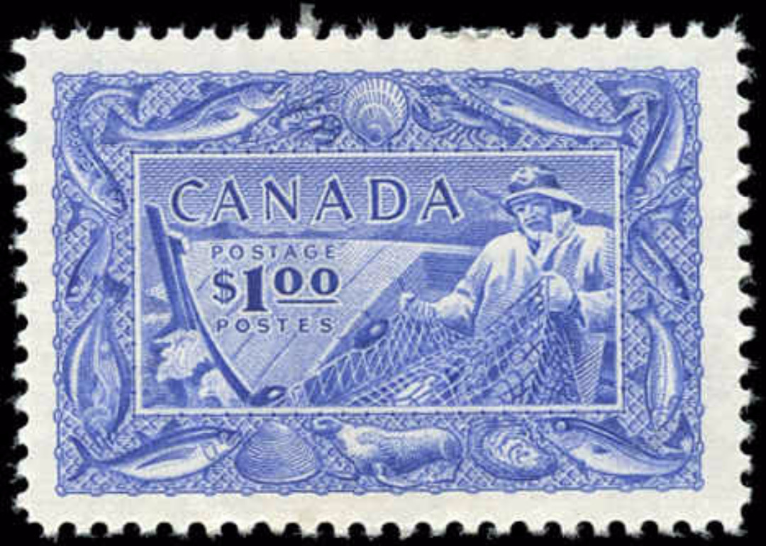 Canada #302, Fish Resources Issue, F-VF, MH