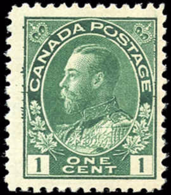 Canada #104viii, Admiral Issue, F-VF, MH