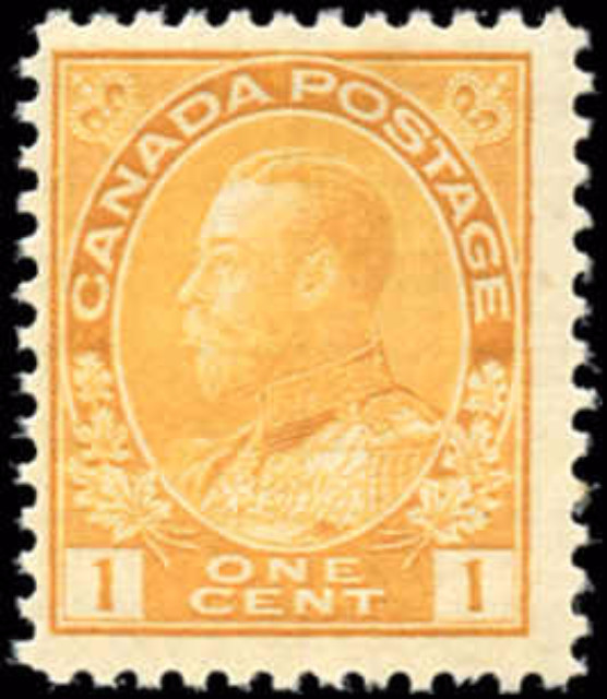 Canada #105, Admiral Issue, F+, MNH