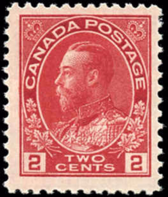 Canada #106, Admiral Issue, F+, MH