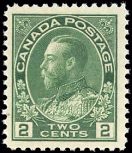Canada #107, Admiral Issue, F-VF, MNH