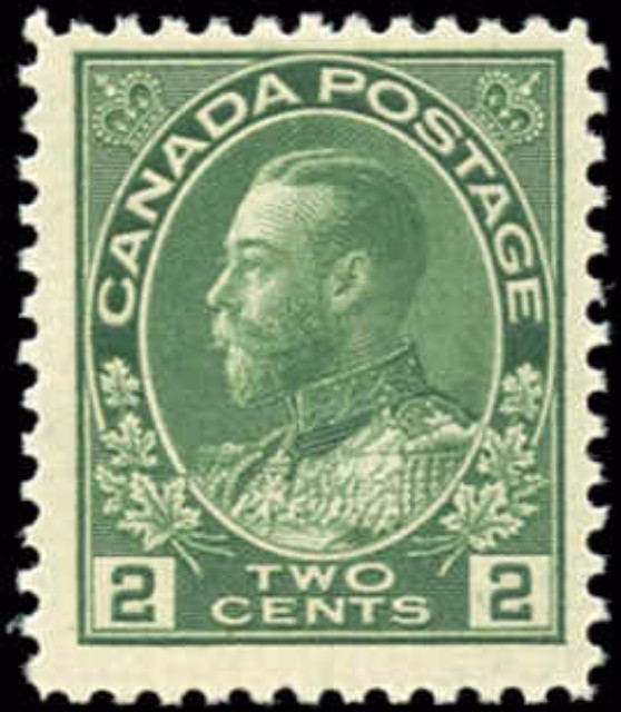 Canada #107, Admiral Issue, F+, MNH