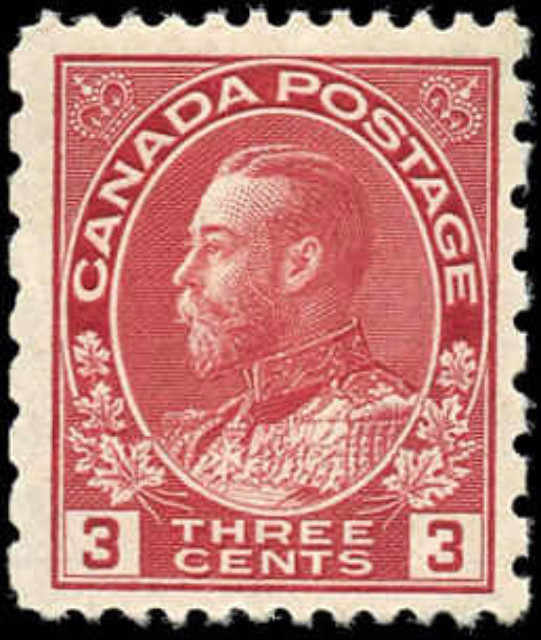 Canada #184, Admiral Issue, F-VF, MNH