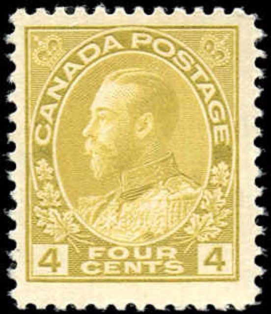 Canada #110, Admiral Issue, F+, MH
