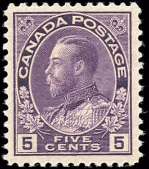 Canada #112, Admiral Issue, F-VF, MH