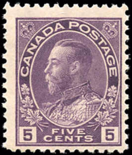 Canada #112, Admiral Issue, F+, MNH