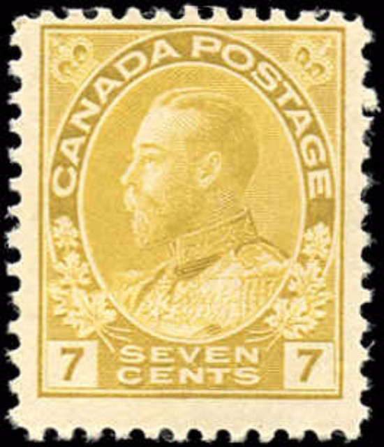 Canada #113, Admiral Issue, F-VF, MH