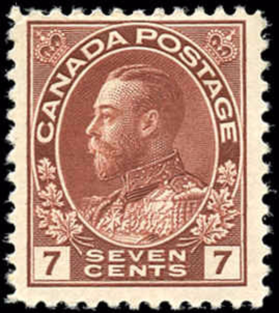 Canada #114, Admiral Issue, F+, MH