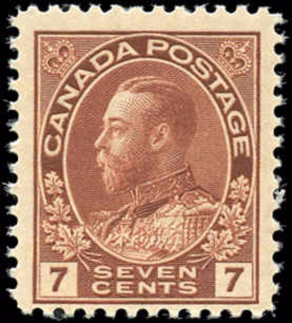 Canada #114, Admiral Issue, F-VF, MH
