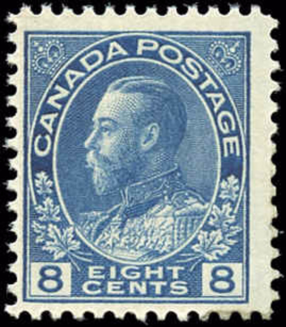 Canada #115, Admiral Issue, F+, MH