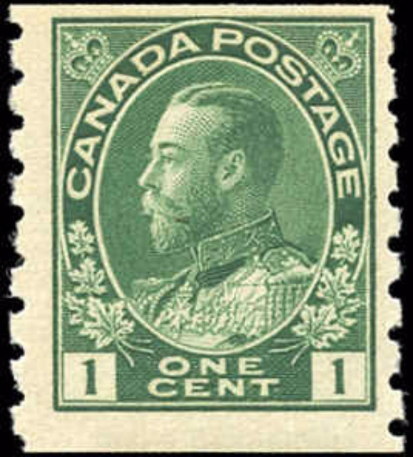 Canada #125, Admiral Issue, F, MH
