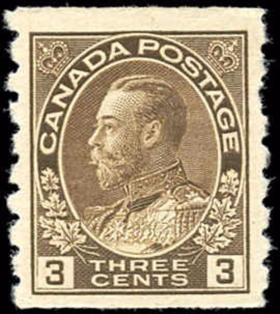 Canada #129, Admiral Issue, F-VF, MH