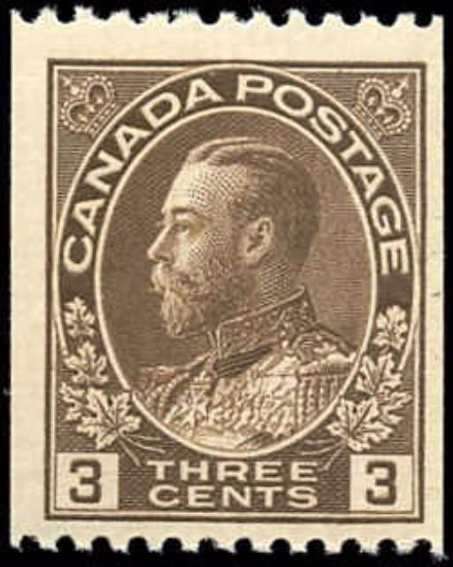 Canada #134, Admiral Issue, F+, MNH
