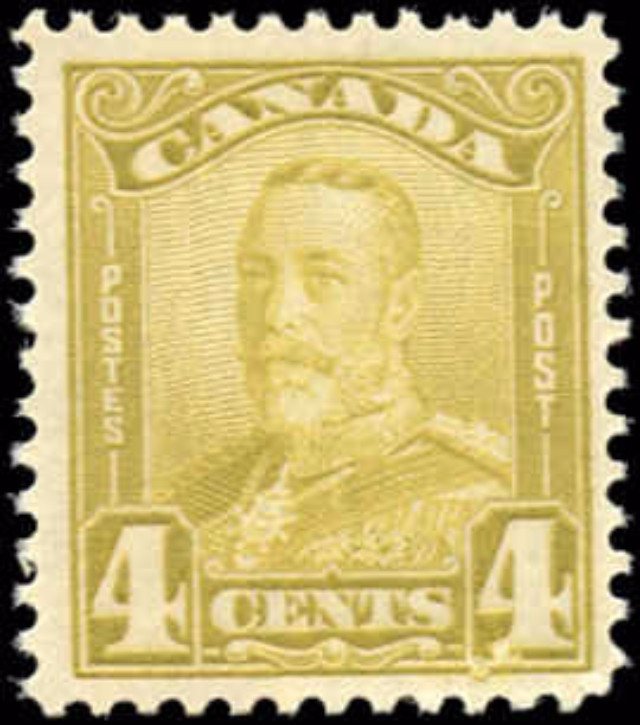 Canada #152, Scroll Re-entry, F-VF, MNH