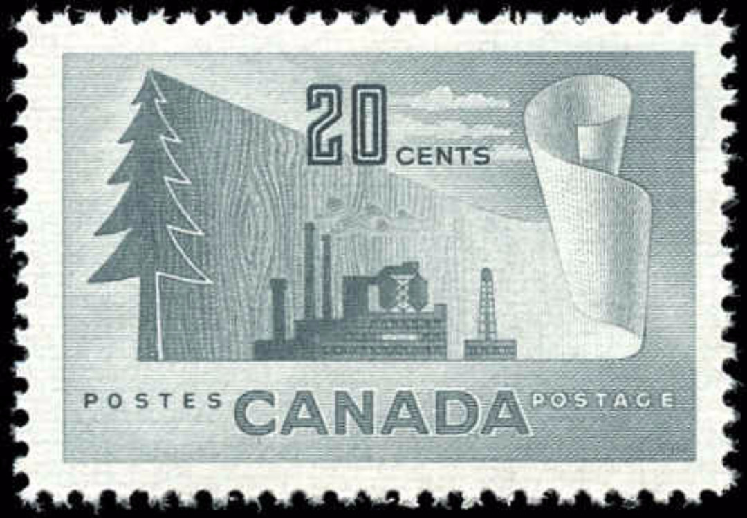 Canada #316, Forest Product Issue, VF, MNH