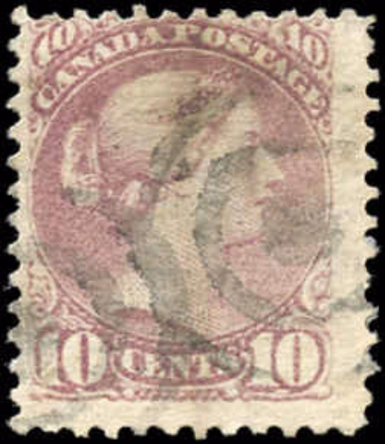 Canada ##40, Small Queen Issue, F, Used