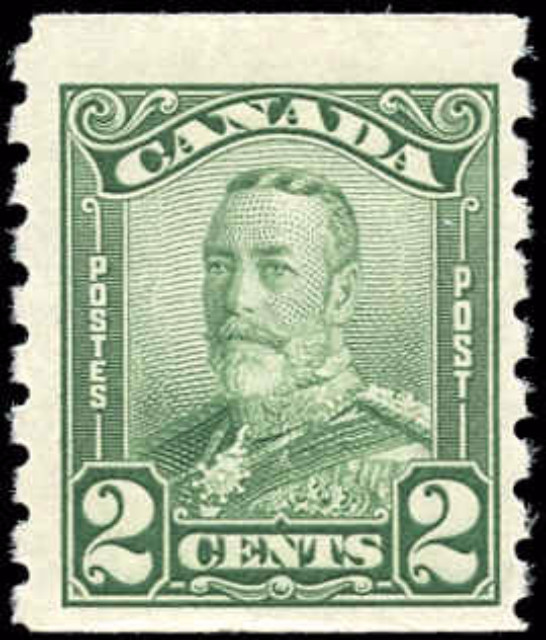 Canada #161, Coil Scroll Issue, F, MH