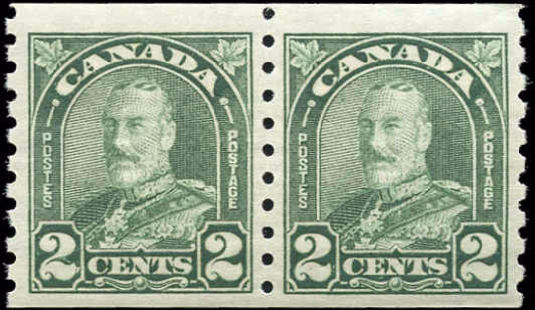 Canada #180, Coil Arch/Leaf Issue, F-VF, MH