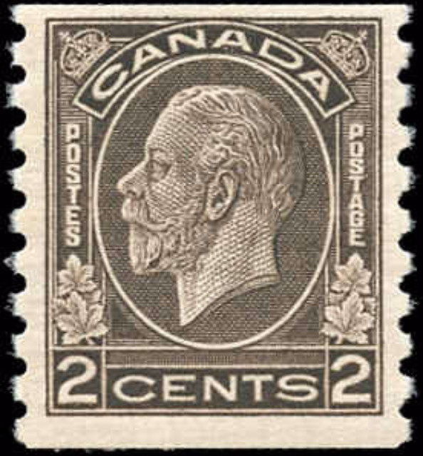 Canada #206, Coil Medallion Issue, F-VF, MH