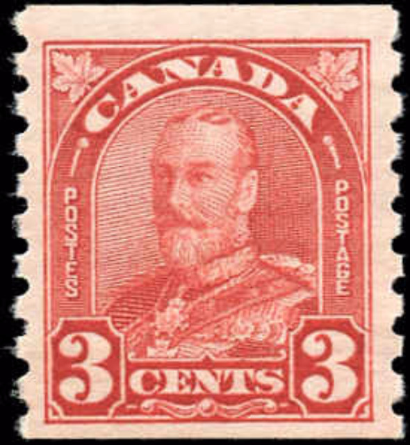 Canada #183, Coil Arch/Leaf issue, F-VF, MNH