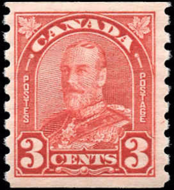 Canada #183, Coil Arch/Leaf Issue, F-VF, MH