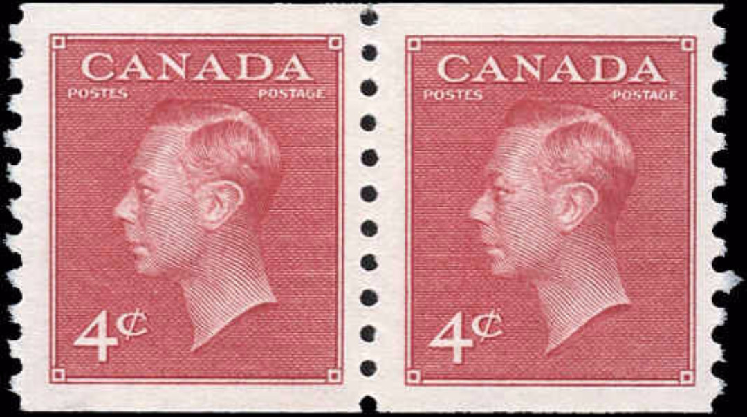 Canada #300, Coil Pte-Ptage Issue, F-VF, MNH