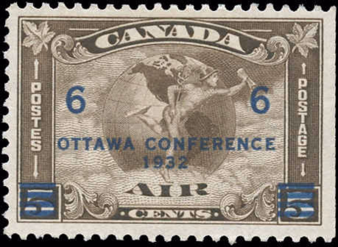 Canada #C4, Airmail Issue, F-VF, MH