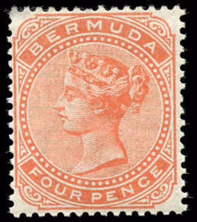 Bermuda Stamp, Scott ##17, F+, MH