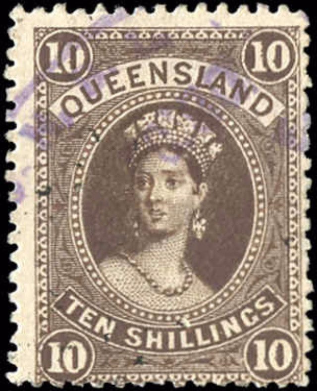 Australian States [Queensland], ##82, VG-F, Used