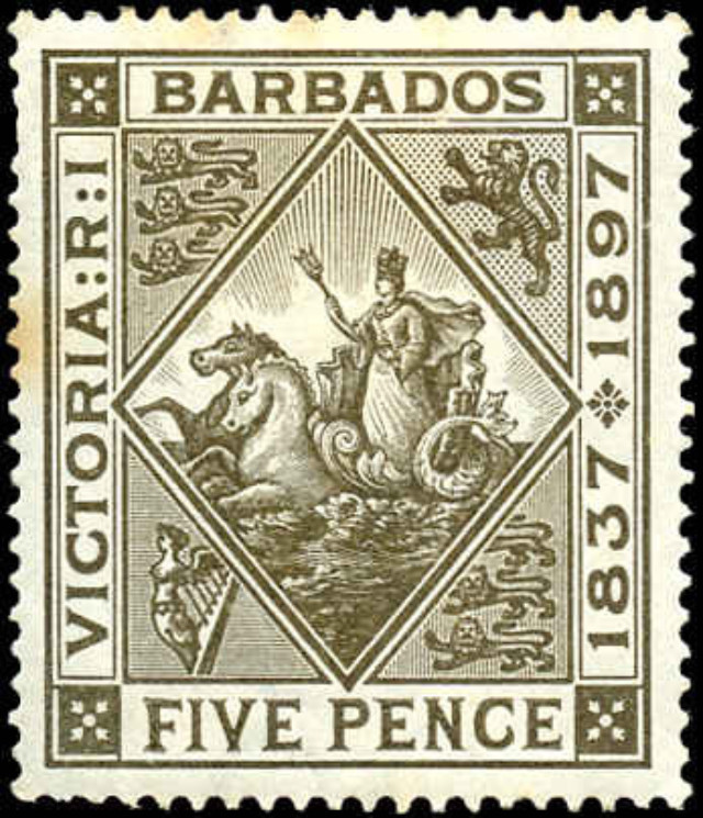 Barbados, ##85, F-VF, MH
