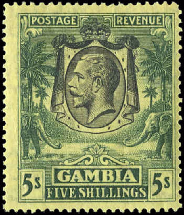 Gambia, #119, F+, MH