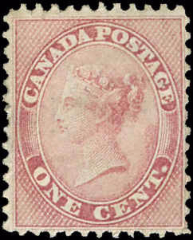 Canada ##14viii, First Cents Issue, F+, MH