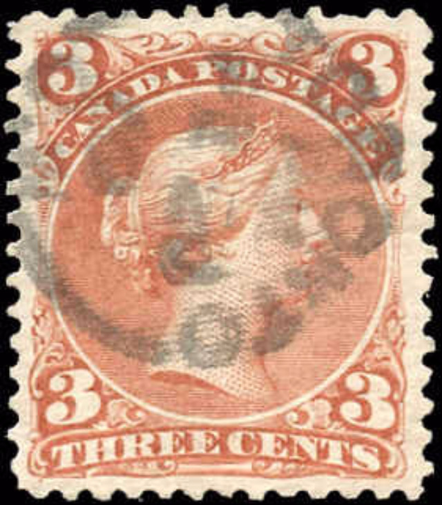 Canada ##25iii, Large Queen Issue, VF, Used