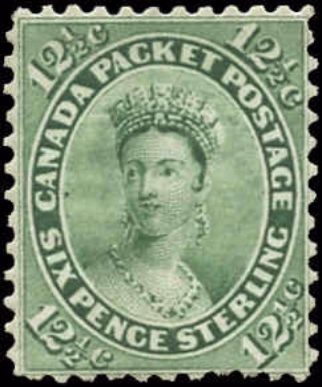 Canada ##18, First Cents Issue, F-VF, Mint