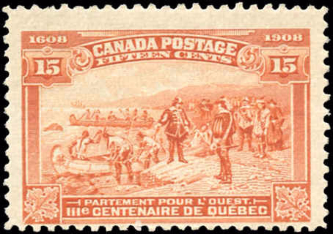 Canada #102, Tercentenary Issue, F+, MNH