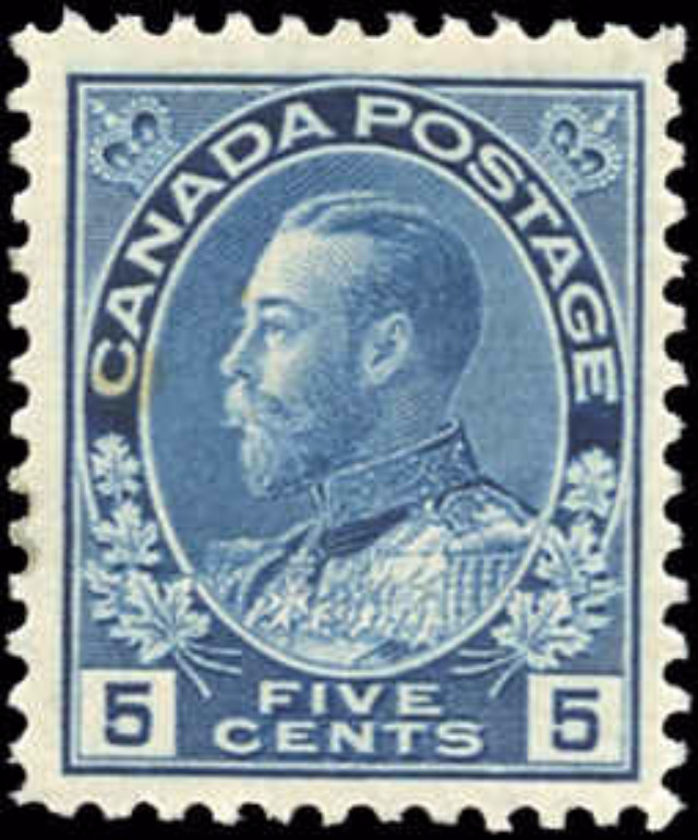 Canada #111, Admiral Issue, F-VF, MNH
