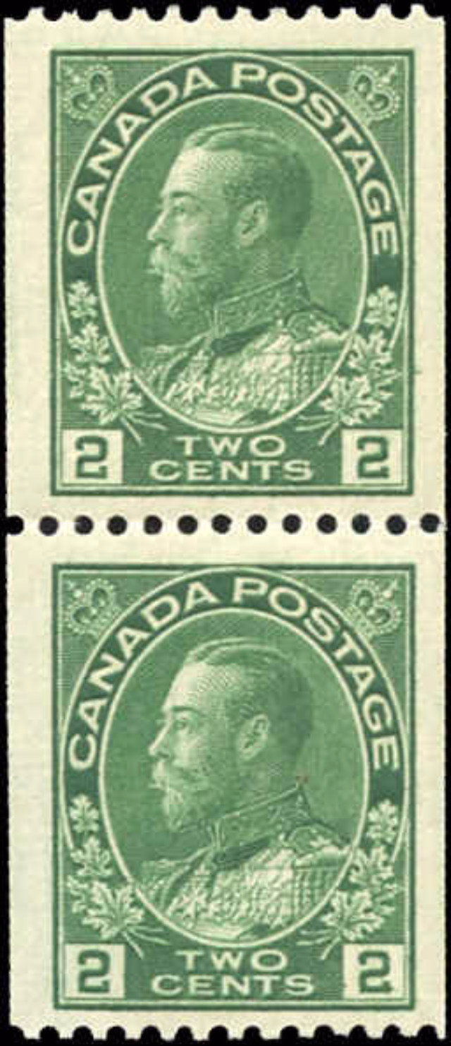 Canada #133, Admiral Issue, F-VF, MNH/MH