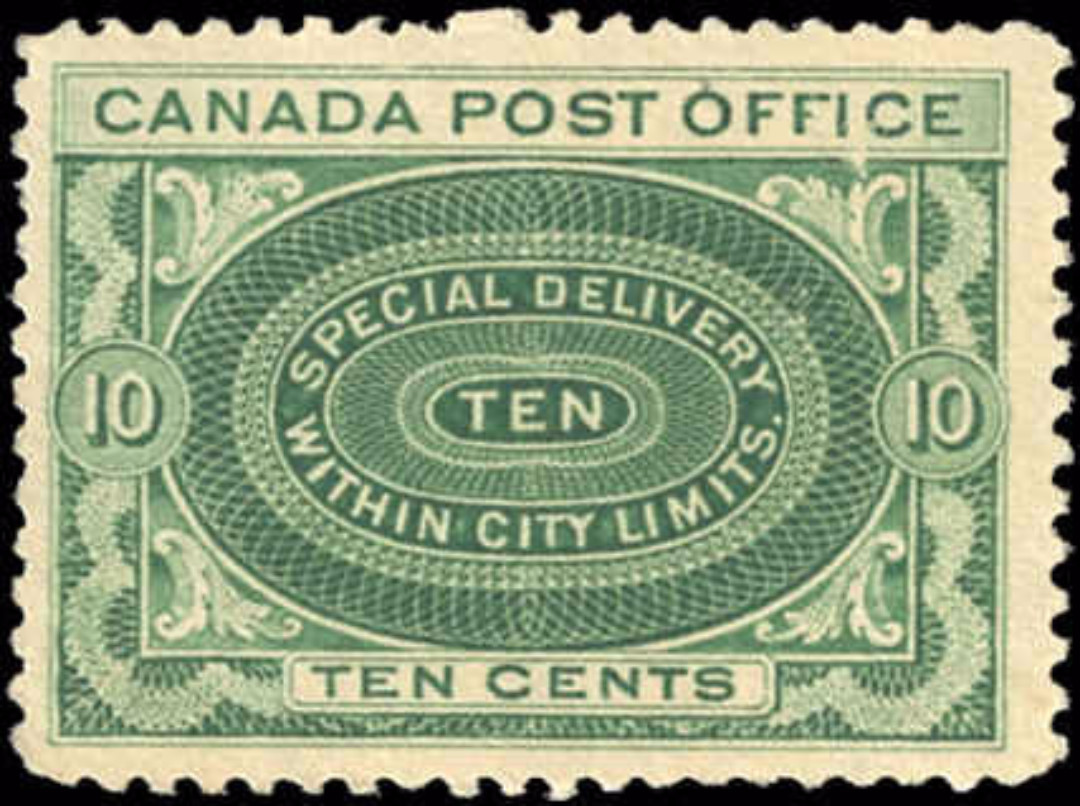 Canada #E1 b, Special Delivery Issue, F-VF, MNH