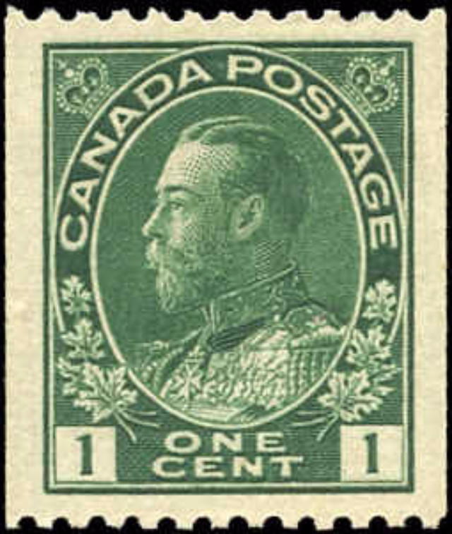 Canada #131, Admiral Issue, VF, MH