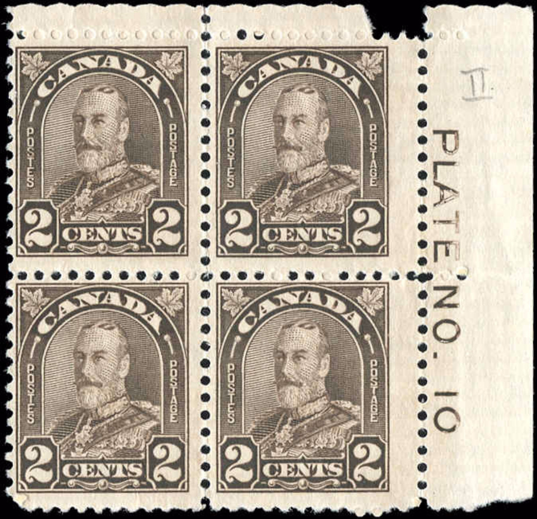 Canada #166, Arch/Leaf Issue, F+, MNH/MH