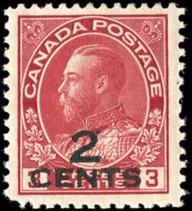 Canada #140iii, Admiral Issue, F-VF, MH